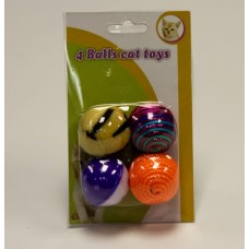 CAT TOY BALL 4 PACK