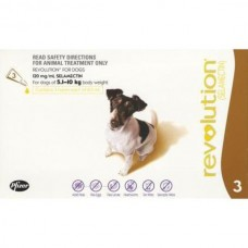 REVOLUTION FOR DOGS 5.1 - 10 KG (3 SINGLE DOSE TUBES)