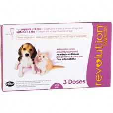 REVOLUTION FOR PUPPIES AND KITTENS UP TO 2.5KG  (3 SINGLE DOSE TUBES)