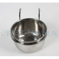 STAINLESS STEEL BIRD CUPS WITH HOOK 300ml