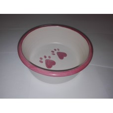 RABBIT BOWL DINNERWARE LARGE PINK