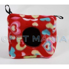 FLEECE SMALL ANIMAL CUBE 20CM x 20CM
