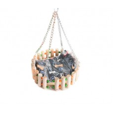 THE RAT SWING BED WOODEN(SMALL ANIMAL SWING BED)